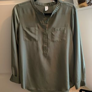 Old Navy Green Blouse